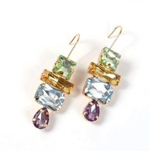 2/$35 🖤 ZARA Geometric Rhinestone Drop Earrings
